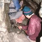 1991 - Speibing-Klamm: in der großen Periklin-Calzit-Kluft