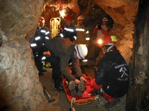 Bergwerk Rettungsübung am 18. Oktober 2013