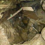 Im Herbst war der Hohlraum ca. 4 m tief ausgeräumt.