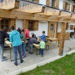 Edelstein- Waschen bei Alpinmineralien Hofer
